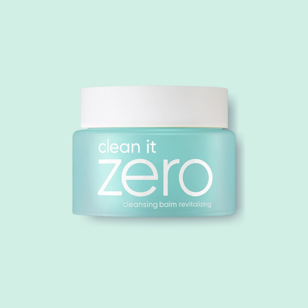 This cult favorite BANILA CO Clean It Zero Cleansing Balm Revitalizing is a favorite of ours as our first step to double-cleanse to melt off the stubborn makeup and sunscreen without stripping the skin's natural oils.