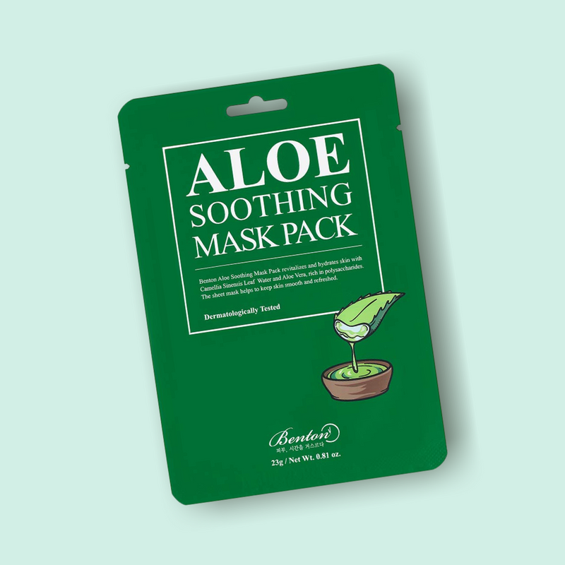 Revitalize and refresh your complexion with the Benton Aloe Soothing Masks. These revitalizing Benton Aloe Soothing sheet masks instantly nourish and intensely moisturize your skin while soothing and irritated, dry, and matte complexion.