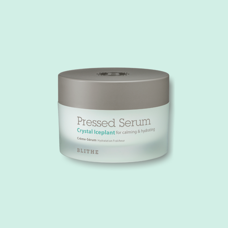 This 2-in-1 serum plus moisturizer hybrid BLITHE Crystal Iceplant Pressed Serum is a great addition to your skincare routine. The pressed serum is formulated with 63% Ice Plant extract, which effectively stores nutrients, moisture, and water to keep the skin feeling calm and to minimize the appearance of pores.