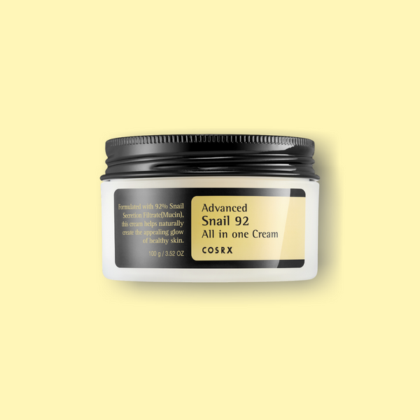 This COSRX Advanced Snail 92 All in One Cream has 92% of Snail Secretion Filtrate to keep your skin moisturized while providing nourishment to the skin. The rich gel type cream glides onto the skin beautifully, building a moisture barrier for long-lasting hydration. It also has anti-aging properties.