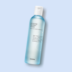 COSRX Hydrium Watery Toner is formulated with vitamin B5 and six types of hyaluronic acid to increase the moisture content of dry skin. Vitamin B5, known as Panthenol, has moisturizing, regenerating, and anti-inflammatory effects.