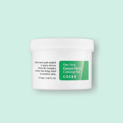 It's never been easier to treat irritated and sensitive skin with Cosrx One Step Green Hero Calming Pads. These pads are pre-soaked in essence which is formulated with Green-Rx complex, which is derived from natural plants.