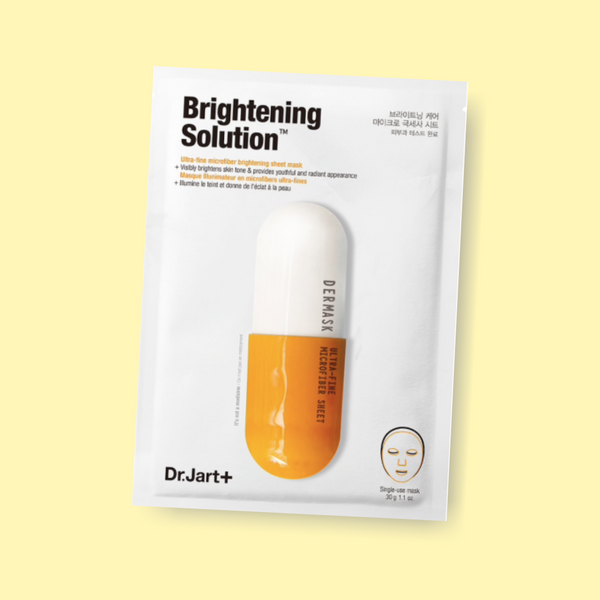 In need of a nourishing mask to finish your skincare regimen? Made out of ultra-fine microfiber, this DR JART+ Dermask Micro Jet Brightening solution sheet mask instantly brightens an uneven and dull complexion.
