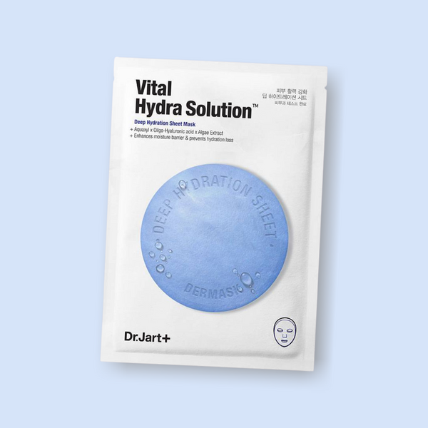 In need of a nourishing mask to finish your skincare regimen? Made out of ultra-fine microfiber, this Dr Jart+ Dermask Waterjet Vital Hydra Solution sheet mask instantly hydrates and replenishes the skin.
