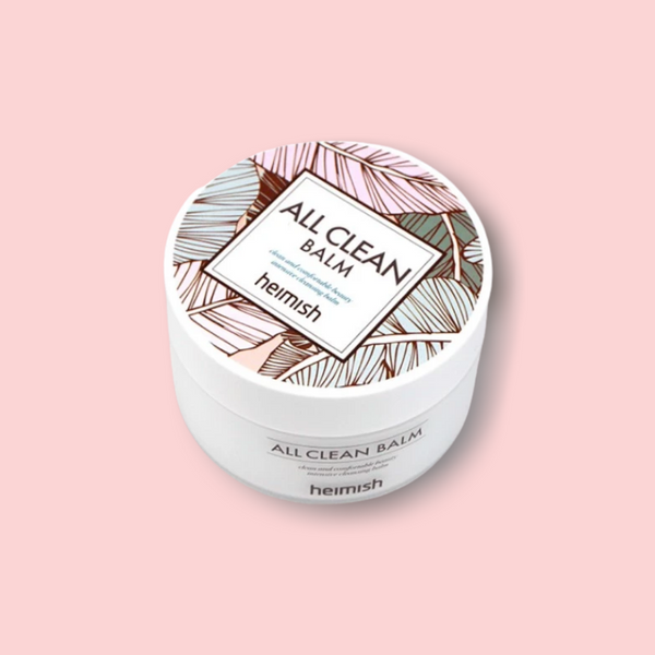 This luxurious HEIMISH All Clean Balm cleansing balm is a favorite of ours as our first step to double-cleanse to melt off the stubborn makeup and sunscreen without stripping the skin's natural oils.