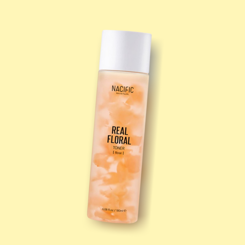 NACIFIC Real Floral Toner Rose features a highly concentrated formula that contains 92% of rose water. It has moisturizing and soothing benefits, while also removing impurities, dust and excess residues. Power ingredient Centella Asiatica has soothing and refreshing properties, that also strengthens the natural moisture barrier.