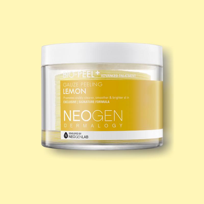 Neogen Bio-Peel Gauze Peeling Lemon is the perfect exfoliator for those who love chemical or manual exfoliation and a cult-favorite among K-beauty lovers. It is enriched with Lemon extract and Vitamin C, which help fading dark spots and acne scars while brightening the hyperpigmentation and skin dullness.
