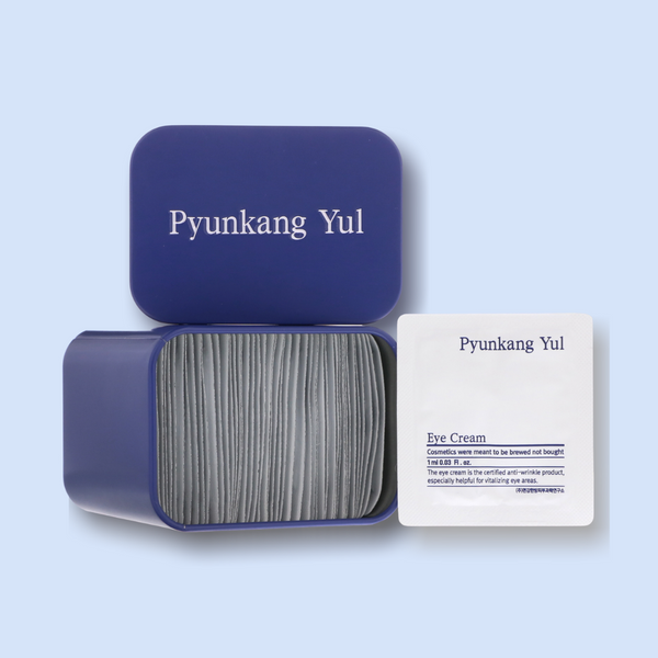 "If you are looking for a great hydrating eye-cream, or you love products with easy and hygienic product packaging, this ""one-pack-a-day"" Eye Cream from Pyunkang Yul should be up your aisle. This eye cream is packed with skin-loving ingredients to help improve aging signs."
