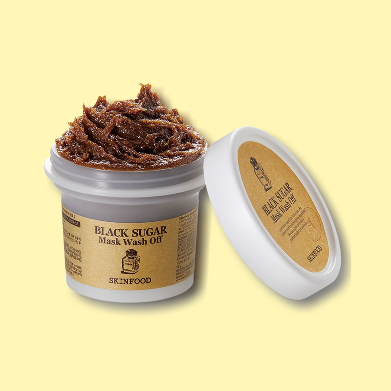 The SKINFOOD Black Sugar Mask Wash Off is a peeling and hydrating mask in one. Fine sugar grains leave skin soft, while exfoliating and nourishing your complexion. Formulated with Black Sugar, it contains several skin benefitting minerals, such as phosphorus, calcium, iron, magnesium and potassium, as well as vitamins, like riboflavin, niacin and pantothenic acid.