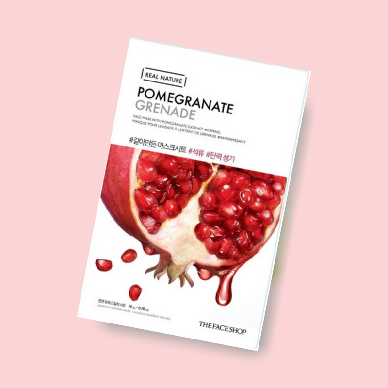 Extracted from natural plant, The Face Shop Pomegranate Mask offers you special hydration and pure essence. This mask reduces the appearance of the first signs of aging and helps improve skin's elasticity.