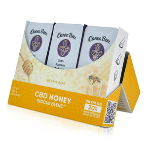 Bee Delightful - Canna Bees Snap Pack CBD Honey (30 Count Case) - Display Case