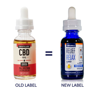 CBDistillery - Full Spectrum CBD Oil - Extra Strength - 1000mg - 33mg per ml - New Packaging