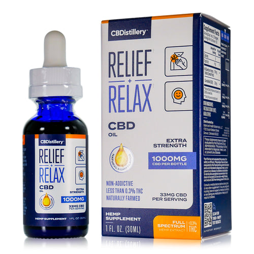 CBDistillery - Full Spectrum CBD Oil - Extra Strength - 1000mg - 33mg per ml