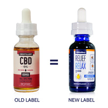 Load image into Gallery viewer, CBDistillery - Full Spectrum CBD Oil - Maximum Strength - 2500mg - 83mg per ml - New Packaging