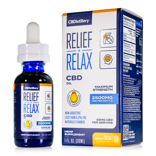 CBDistillery - Full Spectrum CBD Oil - Maximum Strength - 2500mg - 83mg per ml
