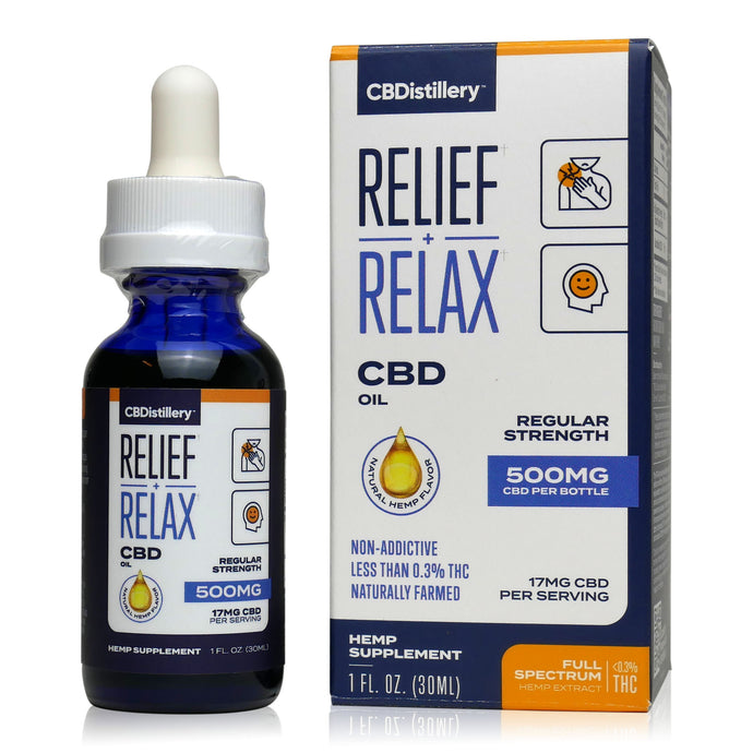 CBDistillery Full Spectrum CBD Oil - Regular Strength - 500mg - 17mg per serving