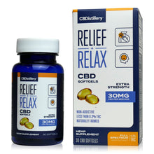 Load image into Gallery viewer, CBDistillery Full Spectrum CBD Softgels (900mg - 30mg per Capsule)