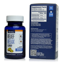 Load image into Gallery viewer, CBDistillery Full Spectrum Softgel Capsules - Extra Strength - 30mg - 60 ct Bottle - Supplement Facts