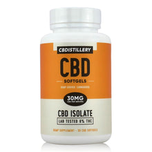 Load image into Gallery viewer, CBDistillery THC-Free Isolate CBD Softgel Capsules (30mg per capsule - 30 count)