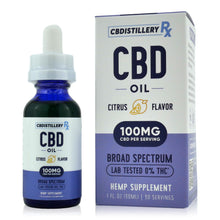 Load image into Gallery viewer, CBDistilleryRX Broad Spectrum CBD Oil - Citrus Flavor - 3000mg - 100mg/ml