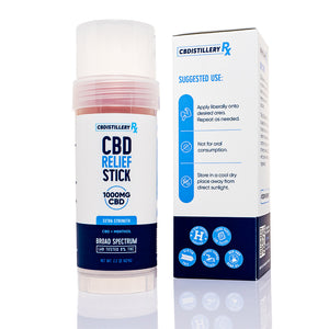 CBDistilleryRX Cooling Relief CBD Stick 1000mg - Suggested Use