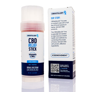 CBDistilleryRX Cooling Relief CBD Stick 1000mg - Our Story