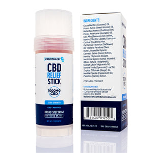 CBDistilleryRX Cooling Relief CBD Stick 1000mg - Ingredients