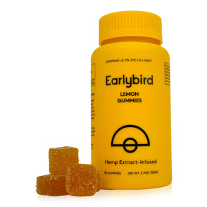 Earlybird CBD - Full Spectrum CBD Gummies - Lemon