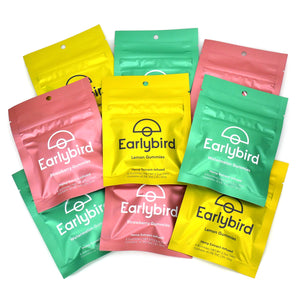 Earlybird CBD - Full Spectrum CBD Gummies - Flavor Trio - 4 Pack - 9 Pouches