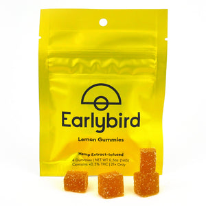 Earlybird CBD - Full Spectrum CBD Gummies - Lemon - 4 Pack