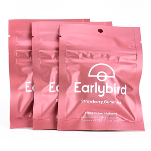 Earlybird CBD - Full Spectrum CBD Gummies - Strawberry - 4 Pack - 3 Pouches