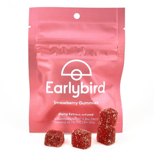 Earlybird CBD - Full Spectrum CBD Gummies - Strawberry - 4 Pack