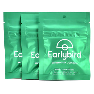 Earlybird CBD - Full Spectrum CBD Gummies - Watermelon - 4 Pack - 3 Pouches