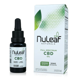 Nuleaf Full Spectrum CBD Oil (900mg, 60mg/ml)