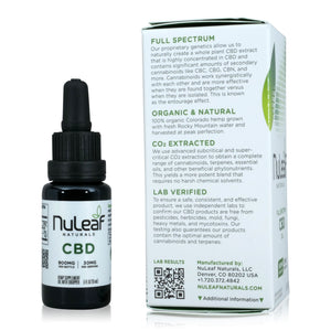 Nuleaf Full Spectrum CBD Oil (900mg, 60mg/ml) - Product Info