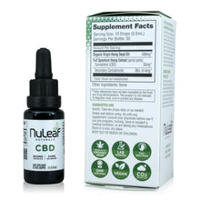 Load image into Gallery viewer, Nuleaf Full Spectrum CBD Oil (900mg, 60mg/ml) - Supplement Facts