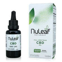 Load image into Gallery viewer, Nuleaf Naturals Full Spectrum CBD Tincture (1,800mg - 30ml)