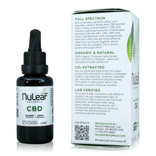 Load image into Gallery viewer, Nuleaf Naturals Full Spectrum CBD Tincture (1,800mg - 30ml) - Product Info