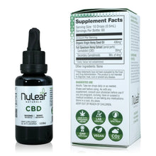 Load image into Gallery viewer, Nuleaf Naturals Full Spectrum CBD Tincture (1,800mg - 30ml) - Supplement Facts