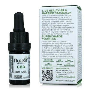 Nuleaf Naturals Full Spectrum CBD Oil (300mg, 5ml) - About