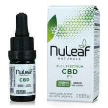 Load image into Gallery viewer, Nuleaf Naturals Full Spectrum CBD Oil (300mg, 5ml)