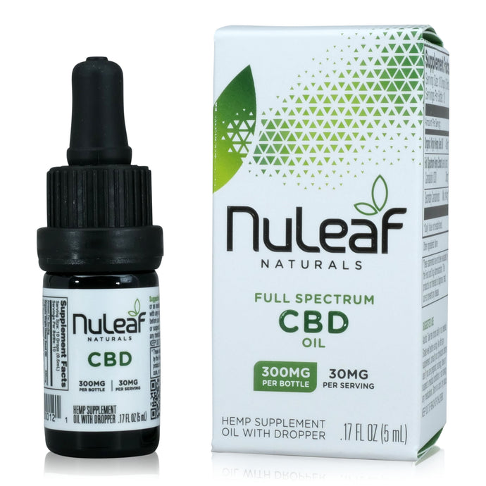 Nuleaf Naturals Full Spectrum CBD Oil (300mg, 5ml)