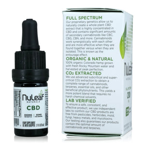 Nuleaf Naturals Full Spectrum CBD Oil (300mg, 5ml) - Product Info