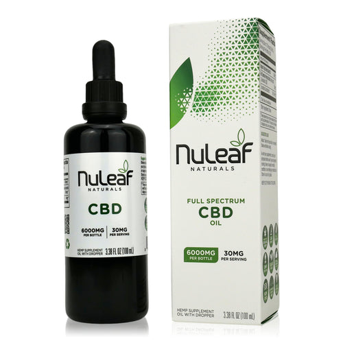 NuLeaf Naturals Full Spectrum CBD Oil - 6000mg - 100ml bottle - 30mg Per Serving