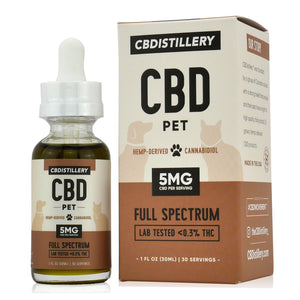CBDistillery CBD Oil For Pets (150mg - 5mg/ml)