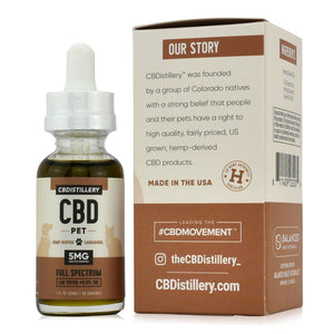 CBDistillery CBD Oil For Pets (150mg - 5mg/ml) - Our Story