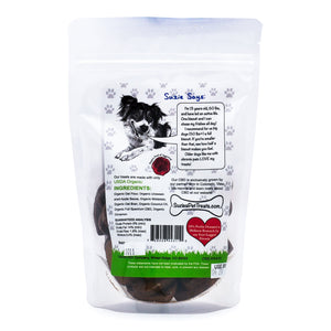 Suzie's CBD Dog Treats - Apple (20 count / 4mg per treat) - Label Detail