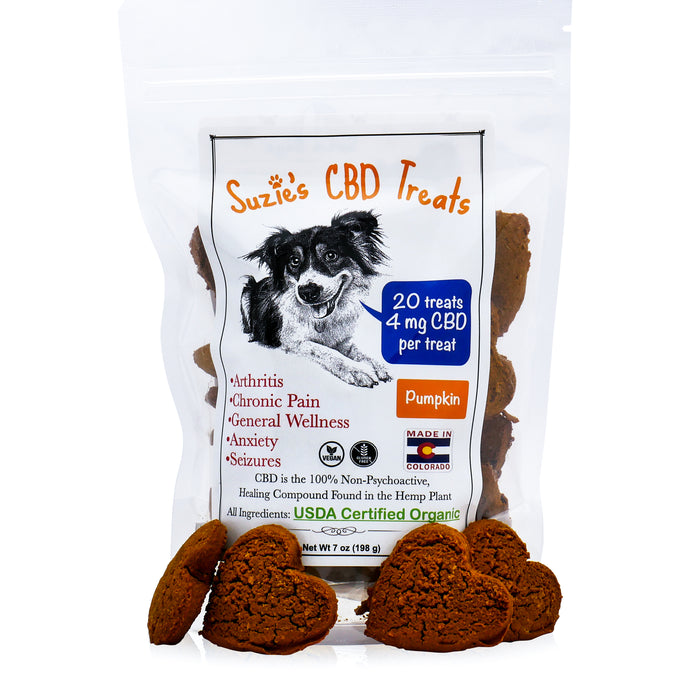 Suzie's CBD Dog Treats - Pumpkin (20 count / 4mg per treat)