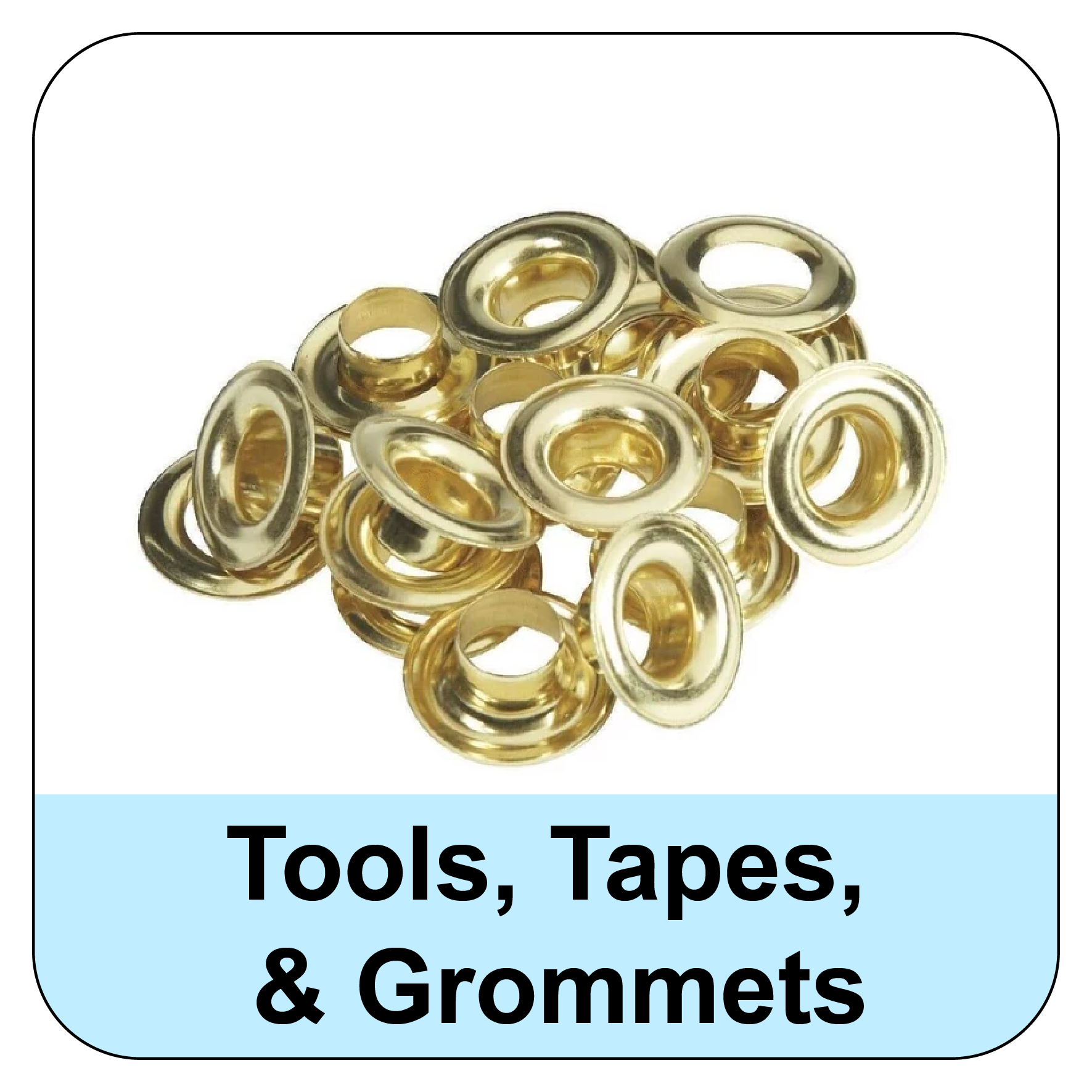 Banner Tapes Tools and Grommets