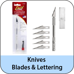Knives, Blades, and Lettering Tools